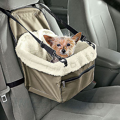 Folding Dog Travel Booster Bag Cat Puppy Pet Car Seat Carrier Safety Belt Cover