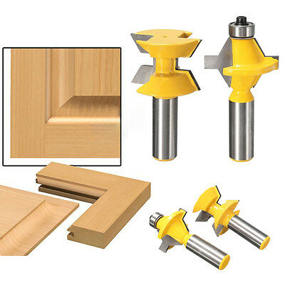 """2Pcs 1/2"""" Shank Router Bit Set 120° Woodworking Groove Chisel Cutter Tool New"""