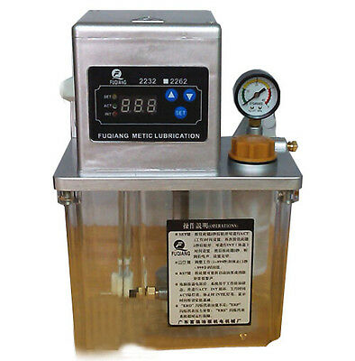 New 2L Auto Lubrication Pump CNC Electronic Timer LCD Automatic Oiler 220V 6mm