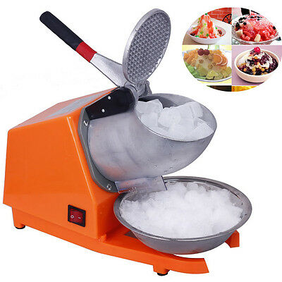 300W Double Blades 65KG/H Electric Ice Crusher Smoothie Machine Ice Shaver