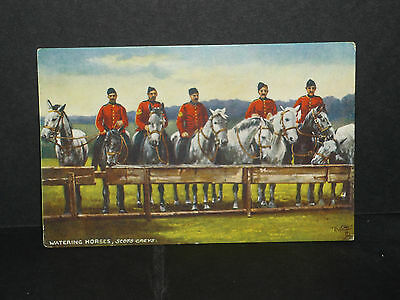 Military -Scots Greys, watering horses