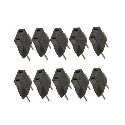 10x Set US /AU to EU Euro Europe AC Power Plug Converter Travel Adapter Charger