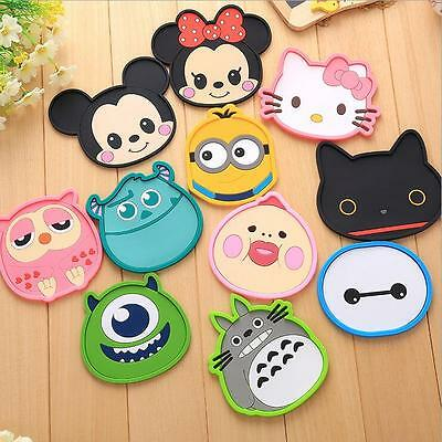 2 PCS Cartoon Coaster Silicone Cup Cushion Holder Drink Placemat Home Tea Mat