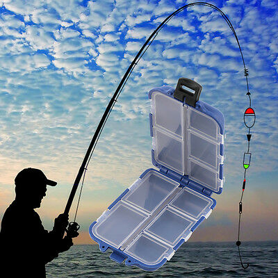 10 Compartments Storage Case Box Fly Fishing Lure Spoon Hook Bait Tackle Box SM