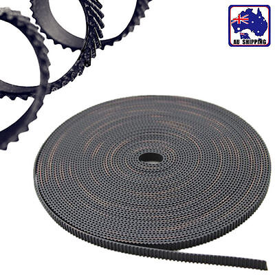 3m 2GT 6mm Rubber Pulley Timing Belt Black Opening 3D Printer EUPR26330x3m