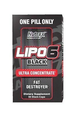 Nutrex Lipo 6 Black Ultra Concentrated Uc 60 Capsules - Fat Burner
