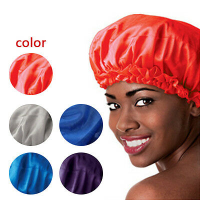 New Sleeping Hat Night Sleep Cap Hair Care Satin Bonnet Nightcap For Women Men
