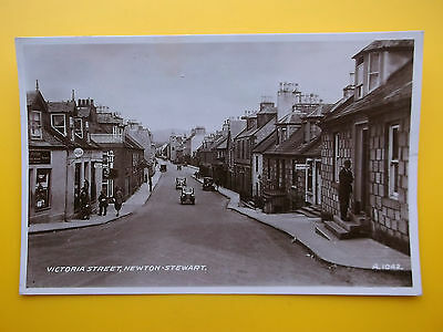 Shops Victoria Street NEWTON STEWART Wigtownshire *Vintage* RP 1944 Old Cars