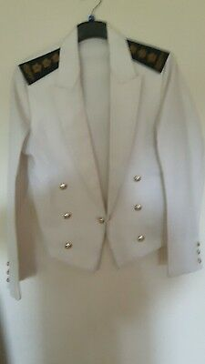 white vintage sailor jacket size 38 inch chest.