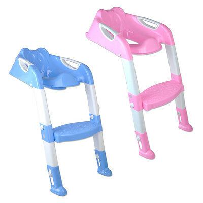 Baby Potty Training Toilet Chair Seat Safety Toddler Step Ladder Trainer Tool