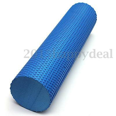 90x15cm Blue EVA Yoga Massage Floating Point Foam Roller Exercise Fitness Gym UK