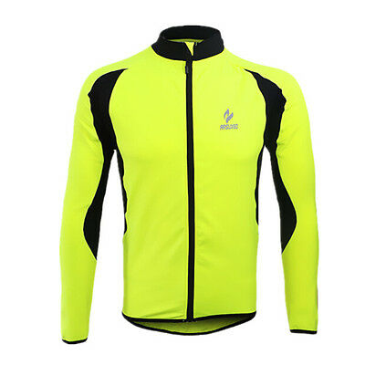 Winter Thermal Cycling Jersey Mens Long Sleeve Mtb Bicycle Fleece Cycling Jacket
