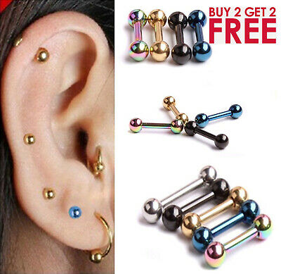 316L Surgical Steel Stud Forward Helix Ball Cartilage Piercing  Tragus Earring
