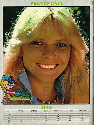 Doc/clipping (Ref Las 148) 1974 : CHANTEUSE : POSTER FRANCE GALL 1page