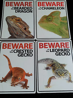 Beware of Signs-Bearded Dragons/Yemen Chameleon/Crested Gecko/Leopard Gecko/Pets