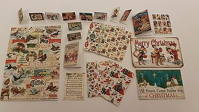 XMAS vintage 1:12th scale dollshouse KIT christmas cards giftwrap music poster