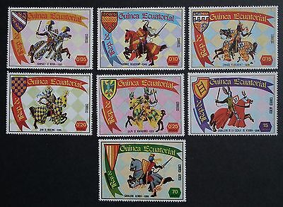 Equatorial Guinea (1978) Knights and Horses / Heraldry / Equines - Mint (MNH)