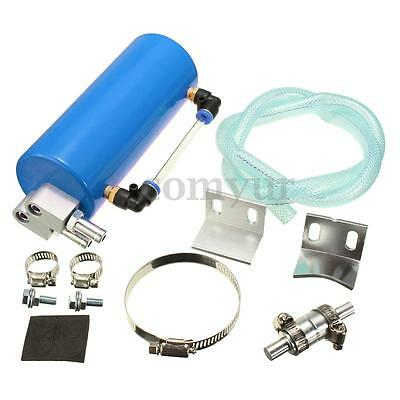 Racing Oil Catch Tank/CAN Reservoir Turbo Billet Turbo Engine Blue Car For FORD