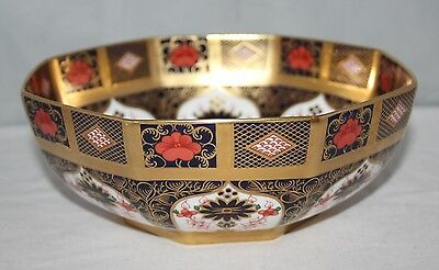 "Royal Crown Derby - Imari 1128 SGB - 8 1/4"" Octagonal Bowl - LIII/1990 - 1st/vgc"