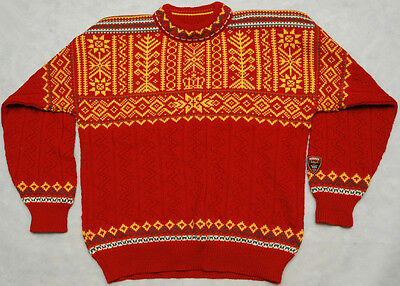 DALE OF NORWAY - TRONDHEIM 1997 - 100% WOOL - HIGH QUALITY warm SWEATER - size L