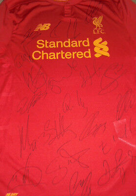 Team signed Liverpool shirt 2016/17 season with coa