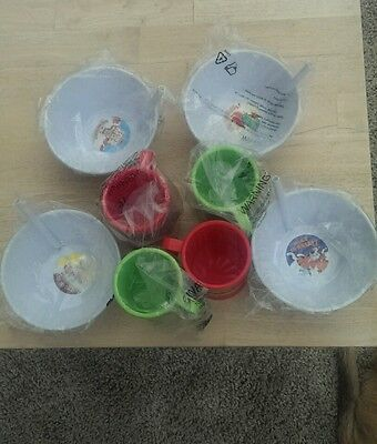 4 x Kelloggs Tip & Sip cereal bowls & 4 Coco Pops mugs. Free delivery.