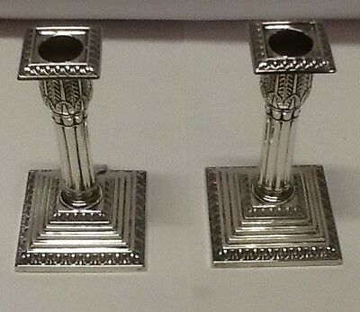 Pair of Sheffield Silver Candlesticks circa 1895, Walker and Hall