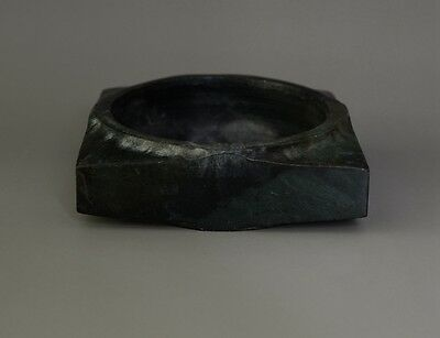 Chinese LiangZhu Culture Style Sacrificial Ceremony Jade Plain Cong-JX11608