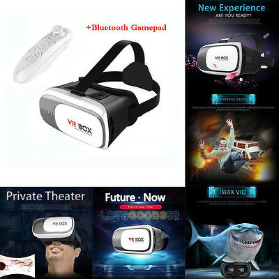 VR Headset Virtual Reality VR BOX Goggles 3D Glasses Google Cardboard Remote