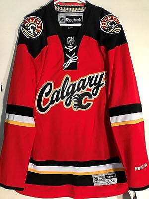 NHL Calgary Flames Premier Ice Hockey Shirt Jersey