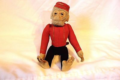 ANTIQUE 1920s SCHUCO GERMAN MECHANICAL YES / NO MONKEY BELLHOP 11""