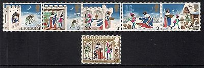 GB MNH STAMP SET 1973 Christmas Wencelas Strip SG 943-948 10% OFF FOR ANY 5+