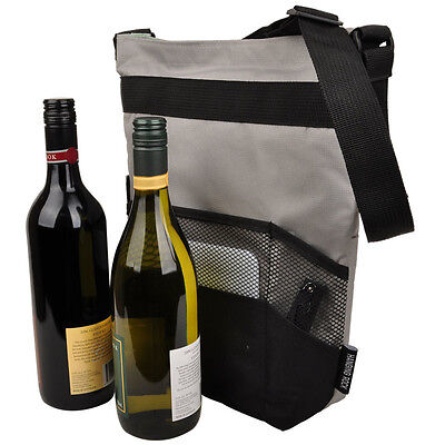 Travelling Picnic Handy Insulated Double Wine Bottle & Food Cheese Carrier Bag