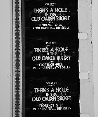 """16mm b/w music - Florence GILL """"THERE´S A HOLE IN THE OLD OAKEN BUCKET"""" 1941"""