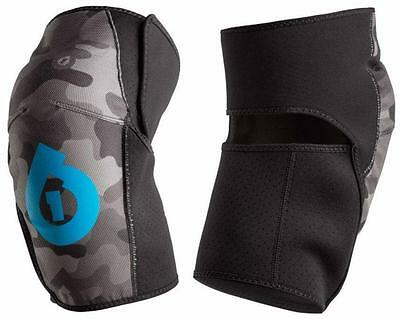 SIXSIXONE 661 COMP AM KNEE GUARDS BLACK/GREY CAMO - S,M or L