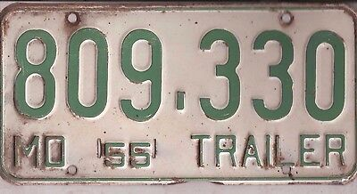 1955 Missouri Trailer License Plate, Cheap !