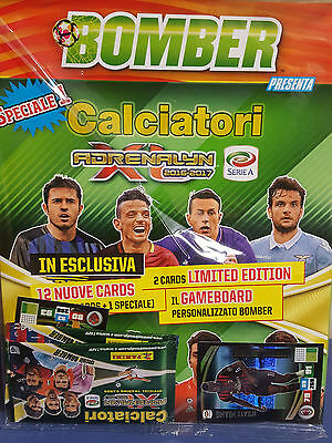 Panini Calciatori Bomber 12 Nuove Cards Adrenalyn 2016 2017 + 2 Limited Edition