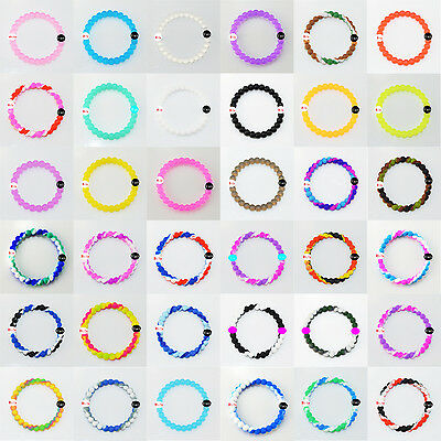 Sale 36Colors Silicone Bracelet Women/Man Jewelly Beaded Wristbands Size S M LXL