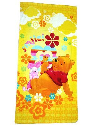 Official Licensed Kids Winnie the Pooh Smile Swimming Beach /Bath Towel.