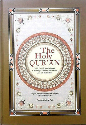The Holy Quran Arabic Text with English Translation and Transliteration  (HB)