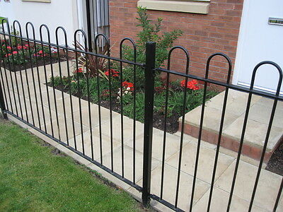 Bow Top Railing Hoop Top Fencing Panels Posts Prefabricated or Components Only