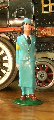 USO Hostess in green suit, Standard Gauge model train layout figure, New/Repro