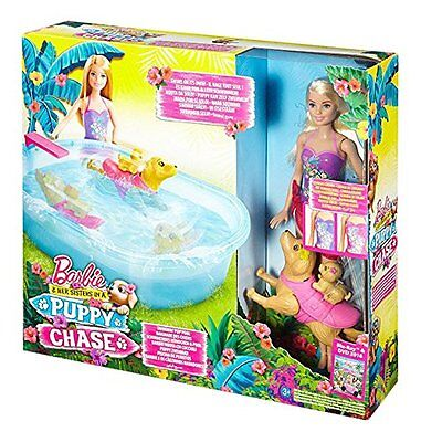 Barbie Pup Pool and Diving Board Set Pets Animals Dog Can Learn To Swim Toy NEW