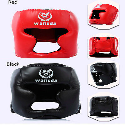 Hot MMA Headgear Head Guard Training Helmet Boxing Wrestle Taekwondo Protector