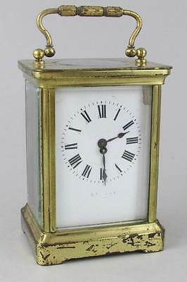 ANTIQUE FRENCH CARRIAGE CLOCK by ALBERT VILLON RESTORE 8 day clock