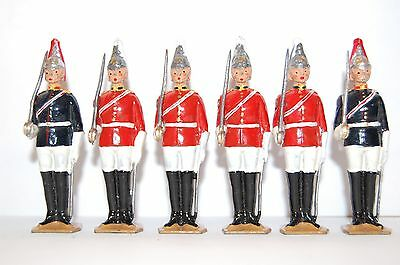 6 Vintage Britains Lead Dismounted Horse And Life Guards