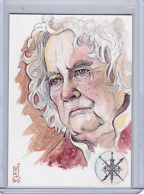 The Hobbit Battle Of The Five Armies Bilbo Baggins Ian Holm Sketch Helga Wojik