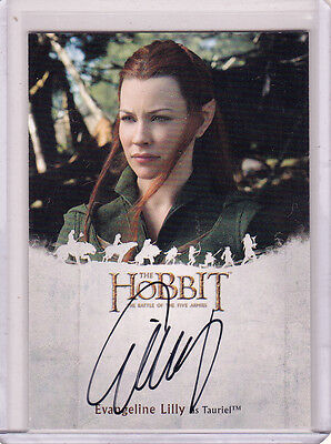 The Hobbit Battle Of The Five Armies Evangeline Lilly Autograph El As Tauriel