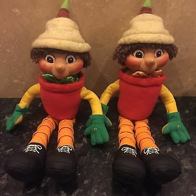 13 Inch Bill & Ben And The Flower Pot Men Plush Toy ~ 2 Soft Toys ~ Hasbro