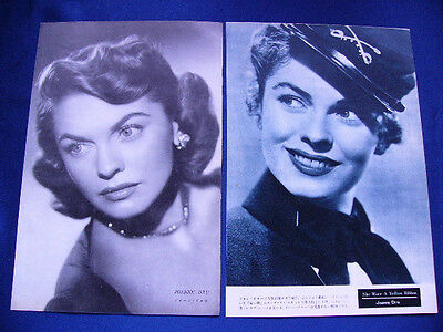 1940s-1950s Joanne Dru 5 Japan VINTAGE Clippings RED RIVER